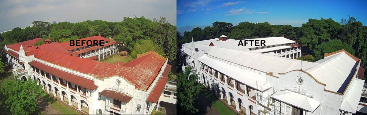 From dark to solar reflective roof