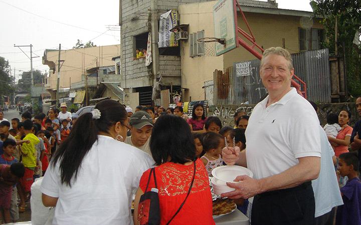 Encasement Guy Participates on a Feeding Program