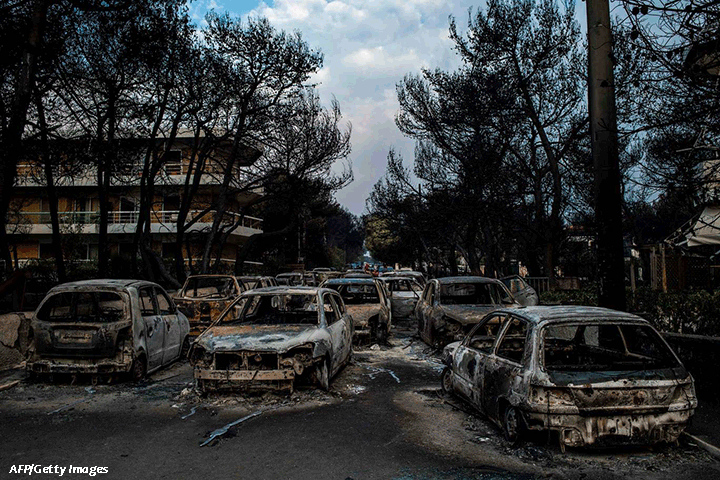 Burnt Cars from Wildfire